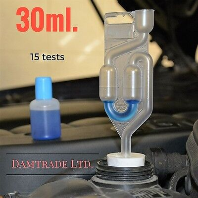 Car Combustion leak tester head gasket 30ml. fluid, 15 tests Free P&P 1st class