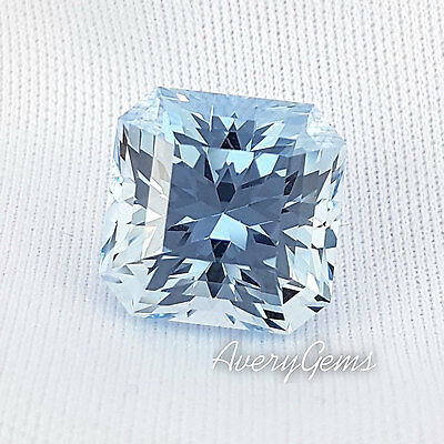 Aquamarine Loose Synthetic 16,4 Ct Precision Cut By AveryGems