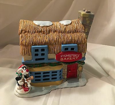 "Looney Tunes ""sylvester's Bakery""  Porcelain Light-Up House"