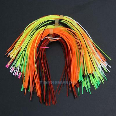 10 Bundles 50 Strands Silicone Skirts Fishing Skirt Rubber Jig Lure Mixed Color