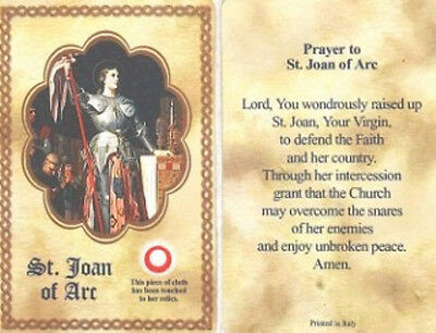 Prayer to St Joan of Arc Relic Holy Card and Devotional Prayer