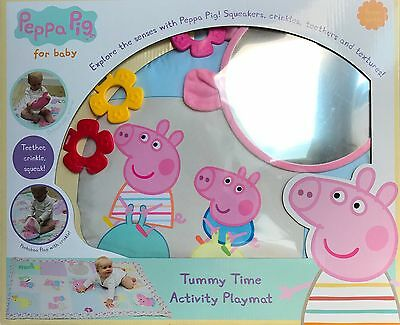 PEPPA PIG for BABY. TUMMY TIME ACTIVITY JUMBO PLAYMAT from BIRTH  * BRAND NEW *