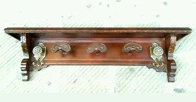 ANTIQUE ITALIAN RENAISSANCE STYLE CARVED HANGING HAT RACK 19th Century