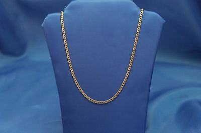 "14k Yellow Gold 2mm Cuban Link Chain Necklace 16"" 18"" 20"" 24"" & 26 Inches"
