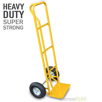 New Hand Sack Truck Heavy Duty 600LB 270kg Work Warehouse Pneumatic Tyres