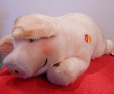 "STEIFF Sissi Schwein  PIG  #102936   Plush toy   NWT  20"" long"