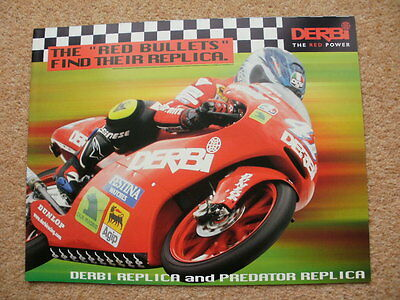Derbi GPR race replica + Predator brochure early 2000's Nieto Ui Poggiali