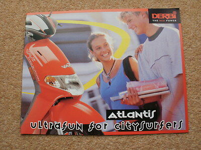 Original Derbi Atlantis scooter brochure 2000