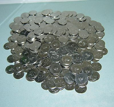400 $1 Dollar Size Stainless Slot Machine Tokens - Newly Minted  - Low Price !