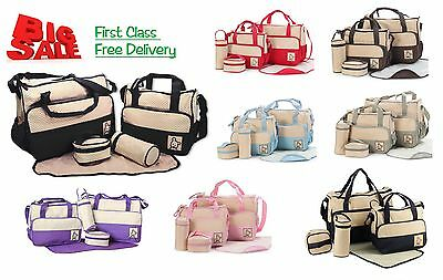Baby nappy changing bag set 5PCS Brand New Cute diaper bag