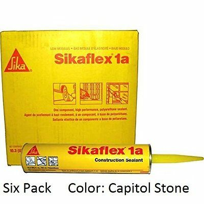 Sika, Sikaflex 1A, One Part Polyurethane Caulk, 10.3 Fl Oz, Color: Capitol Tan,