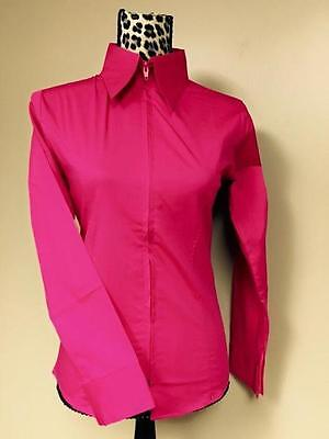 Fitted Zip Front Shirt - Pink