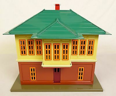 Mth Tinplate Traditions #10-1121 Operating Switch Tower W/interior Light-Nib!