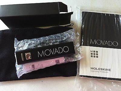 MOVADO Watch Portable Charger/Canvas Pouch, & Moleskine notebook