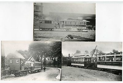 STEAM TRAMS WANTAGE etc 3 PHOTOS 1880-1910