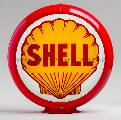 "Shell 13.5"" Gas Pump Globe w/ Red Plastic Body (G175)"