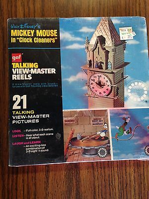 Gaf talking view-master reels sealed Mickey Mouse (In Clock Cleaners)
