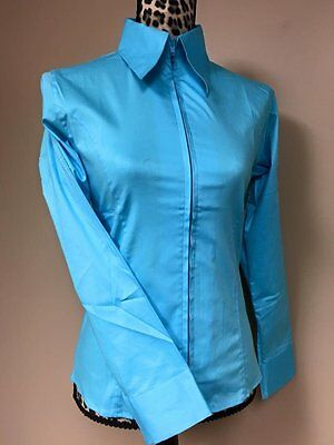 Fitted Zip Front Shirt - Teal