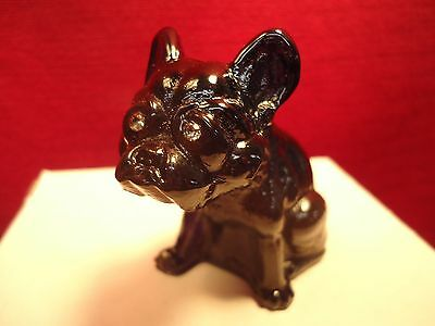 French Bulldog Black Beautiful Westmoreland Rosso Glass Rhinestone Eyes Dog