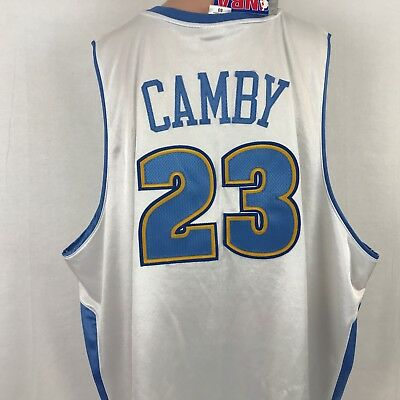 NEW Reebok NBA Authentic Marcus Camby Denver Nuggets Jersey SZ 60 5XL Home  Sewn 6dc521525