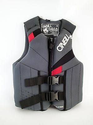 O'Neill Men`s New Bouyancy Neoprene Vest Black Blue for Watersports Sizes L-XXL