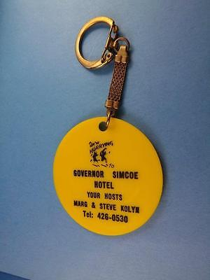 Governor Simcoe Hotel  Keychain Ont Canada Steve Kolyn Vintage Happy Face