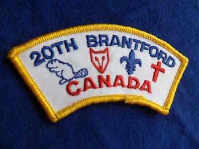 Boy Scouts 20Th Brantford Canada Wolf Beaver  Vintage Patch Badge Very Nice