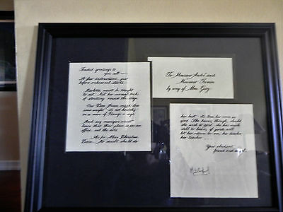 Michael Crawford Signed Phantom Of The Opera 3 Piece Show Prop Letter Montage