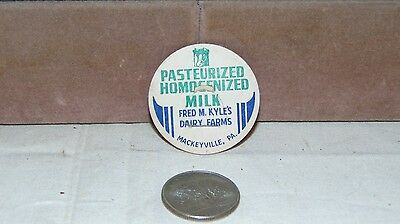 Lot Of 8 Vintage Milk Bottle Cap Fred M Kyles Dairy Farms Mackeyvill Pa