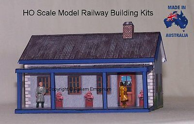 HO Scale House With Optional Rebate Windows & Doors Model Building Kit - REHV4