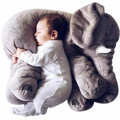 Long Nose Elephant Plush Doll Pillow Soft Stuff Toy Lumbar Pillow Baby Kids Toy