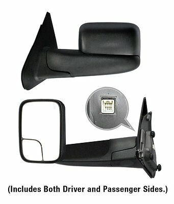Left Right For 2002-2008 Dodge Ram 1500 Tow Extend Flip Up Power Heated Mirror