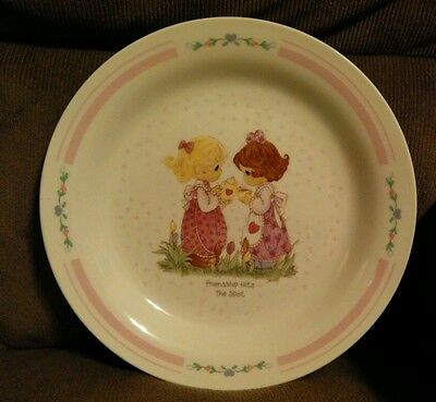 """Precious Moments Collector Plate """"Friendship Hits The Spot"""" tea party cookies"""