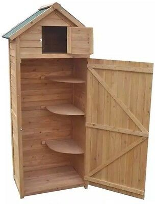 Brand New Boxed Greenfingers Sentry Apex Storage Potting Garden Shed - 2.5 x 6ft