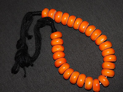 SAfrican tribal jewelry Berber resin beads Necklace, south of Morocco