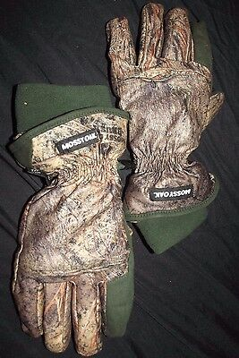 Thinsulate Lined Mossy Oak Insulated Gloves Size Medium Men's