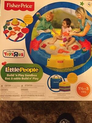 Fisher-Price Little People Build 'n Play Sandbox - NEW IN BOX