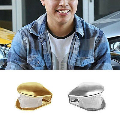 2pcs Gold/Silver Plated Single Tooth Fang Grill Cap Teeth Hip Hop Custom Grillz
