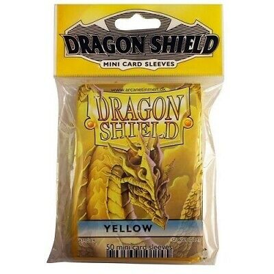 Dragon Shield Mini Size Yugioh Card Barrier Protector Sleeves 50ct - Yellow