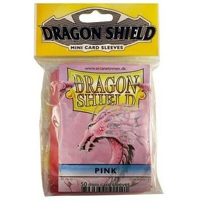 Dragon Shield Mini Size Yugioh Card Barrier Protector Sleeves 50ct - Pink