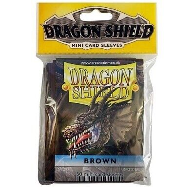 Dragon Shield Mini Size Yugioh Card Barrier Protector Sleeves 50ct - Brown