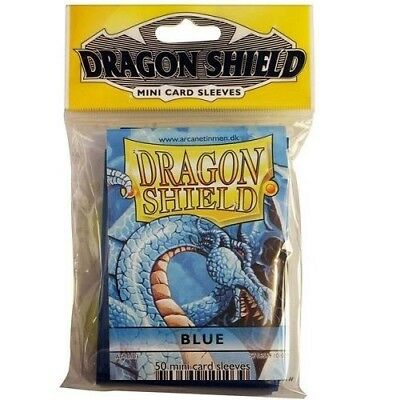 Dragon Shield Mini Size Yugioh Card Barrier Protector Sleeves 50ct - Blue
