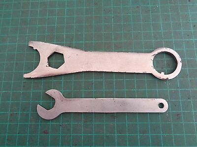 Vintage shearing tools, LISTER spanners x2
