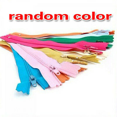 """50pcs zippers 9"""" / 41cm Different Colors Closed End Invisible Zippers Craft"""