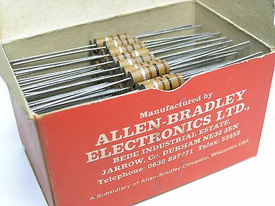 100Ω -1W Allen Bradley MORGANITE UK Carbon Composition Resistors  x 100 PIECES