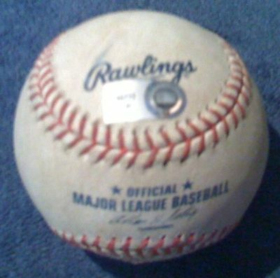Troy Tulowitzki *60Th Career Double* Actual Game Used Ball ~ Blue Jays / Rockies