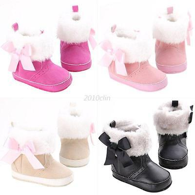 Infant Baby Girls Winter Snow Booties Soft Sole Crib Shoes Warm Anti Slip Boots