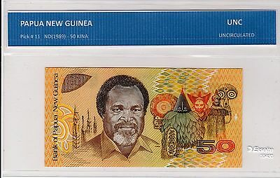 Papua New Guinea  50 Kina  Unc Note From Australian Seller Not Graded By Company