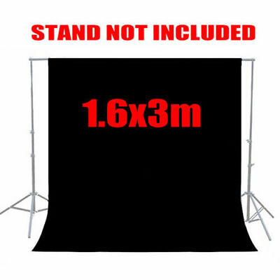 6x9 ft Black Screen Muslin Backdrop Cotton Photo Studio Photography Background