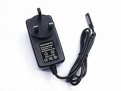 12V 2A AC UK Plug Fast Power Adapter Wall Charger For Microsoft Surface RT Black